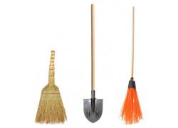 Лопаты, метлы, веники