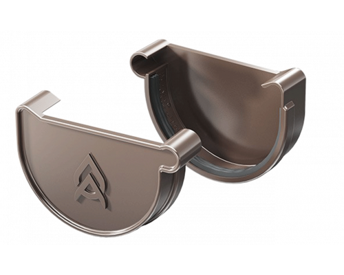 Заглушка желоба ProAqua 125 мм с уплотнителем ЛЕВАЯ