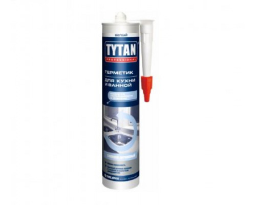 Герметик силиконакриловый TYTAN Professional для кухни и ванной, 310 мл
